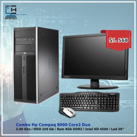 Combo Hp Compaq 8000 C2D